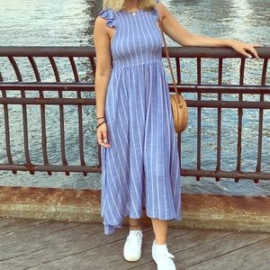 Free people chambray butterfly dress